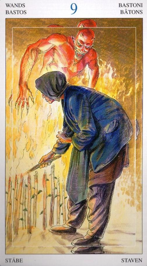 9 Жезлов Таро Мир Духов Tarot of the Spirit World