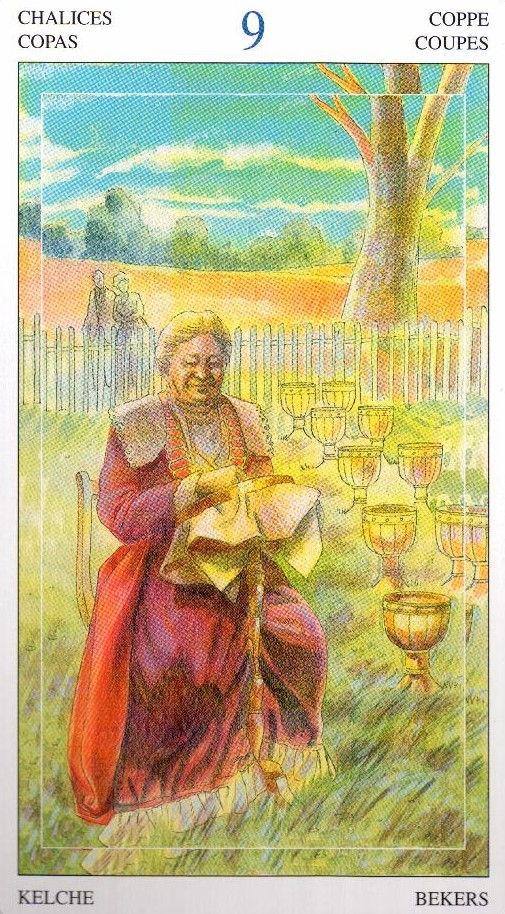 9 Кубков Таро Мир Духов Tarot of the Spirit World