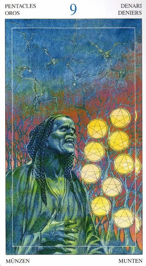 9 Пентаклей Таро Мир Духов Tarot of the Spirit World