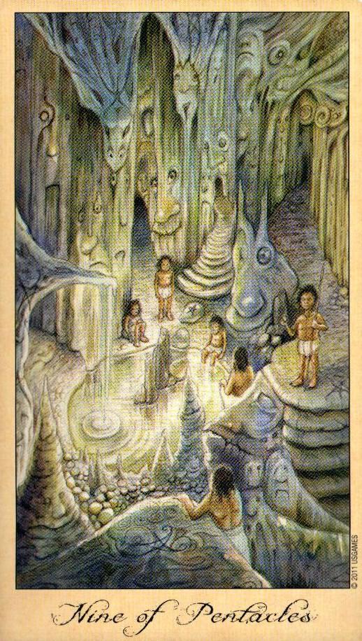 9 Пентаклей Таро Призраков и Духов Ghosts & Spirits Tarot