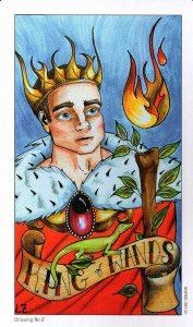 Король Жезлов Eight Coins Tattoo Tarot