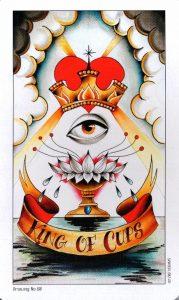 Король Кубков Eight Coins Tattoo Tarot