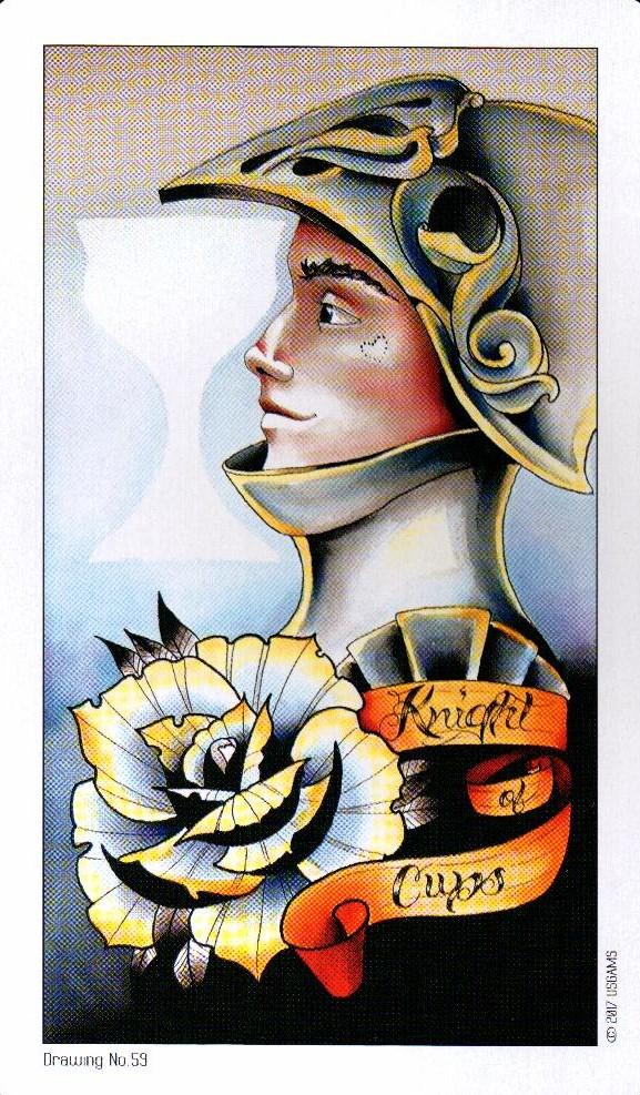 Рыцарь Кубков Eight Coins Tattoo Tarot