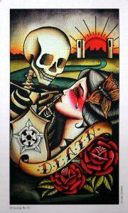 13 Аркан Смерть Eight Coins Tattoo Tarot