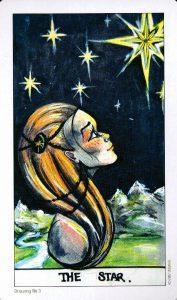 17 Аркан Звезда Дополнительная карта из колоды Eight Coins Tattoo Tarot
