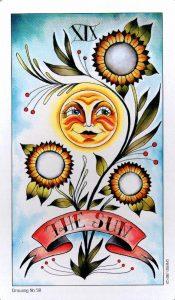 19 Аркан Солнце Eight Coins Tattoo Tarot