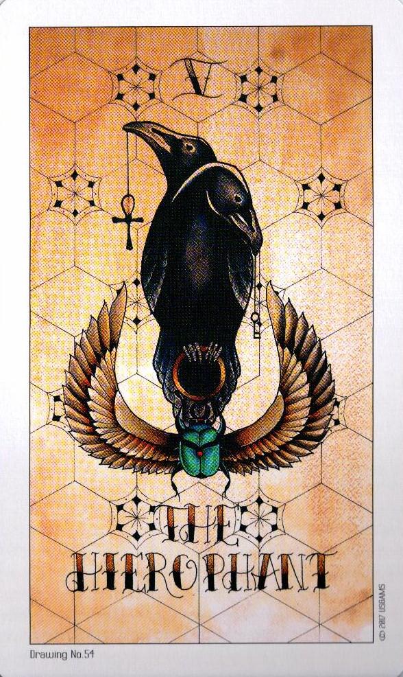 5 Аркан Жрец Иерофант Eight Coins Tattoo Tarot