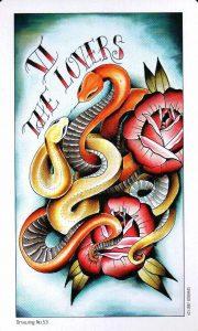 6 Аркан Влюбленные Eight Coins Tattoo Tarot
