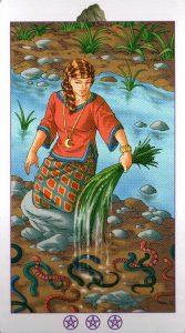 Богиня (Королева) Валунов (Пентакли)Ведьмовское Таро (Таро Ведьм) Witchy Tarot