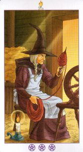 Богиня (Королева) Факелов (Жезлы)Ведьмовское Таро (Таро Ведьм) Witchy Tarot