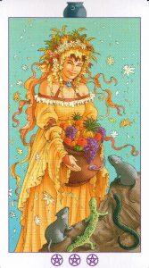 Богиня Котлов (Королева) Ведьмовское Таро Witchy Tarot