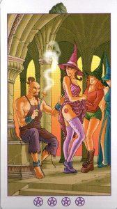 Испытание (Король) Валунов (Пентакли)Ведьмовское Таро (Таро Ведьм) Witchy Tarot