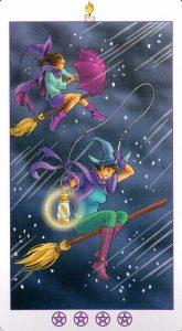 Испытание (Король) Факелов (Жезлы)Ведьмовское Таро (Таро Ведьм) Witchy Tarot