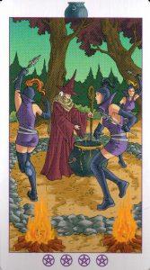 Испытание Котлов (Король) Ведьмовское Таро Witchy Tarot