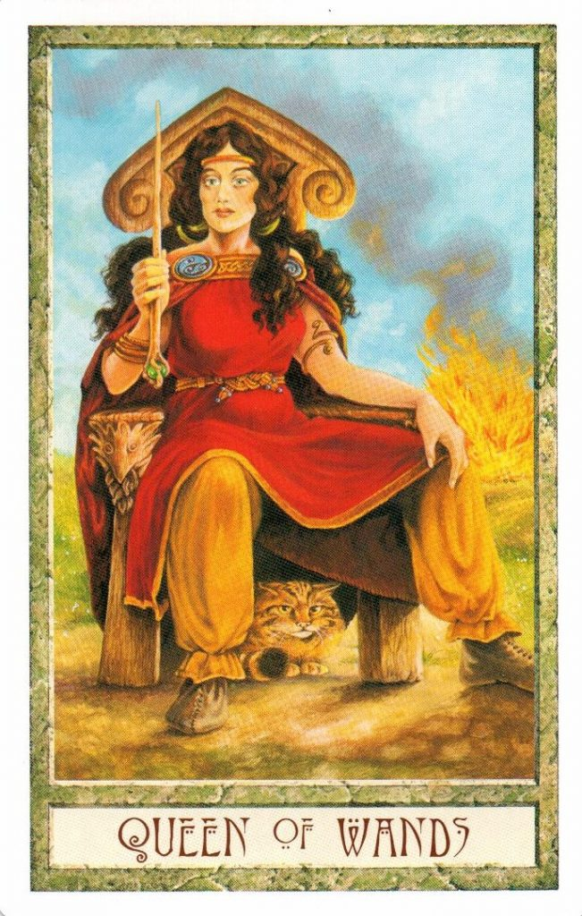 Королева Жезлов Таро Друидов The Druid Craft Tarot