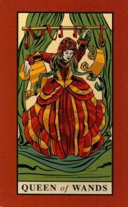 Королева Жезлов The English Magic Tarot Таро Английской Магии