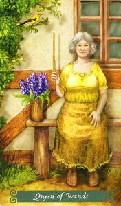 Королева Жезлов The Green Witch Tarot (Таро Зеленой Ведьмы)