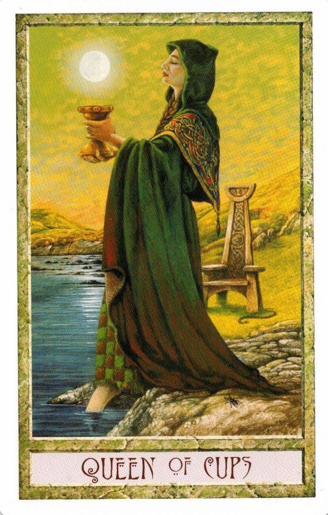 Королева Кубков Таро Друидов The Druid Craft Tarot