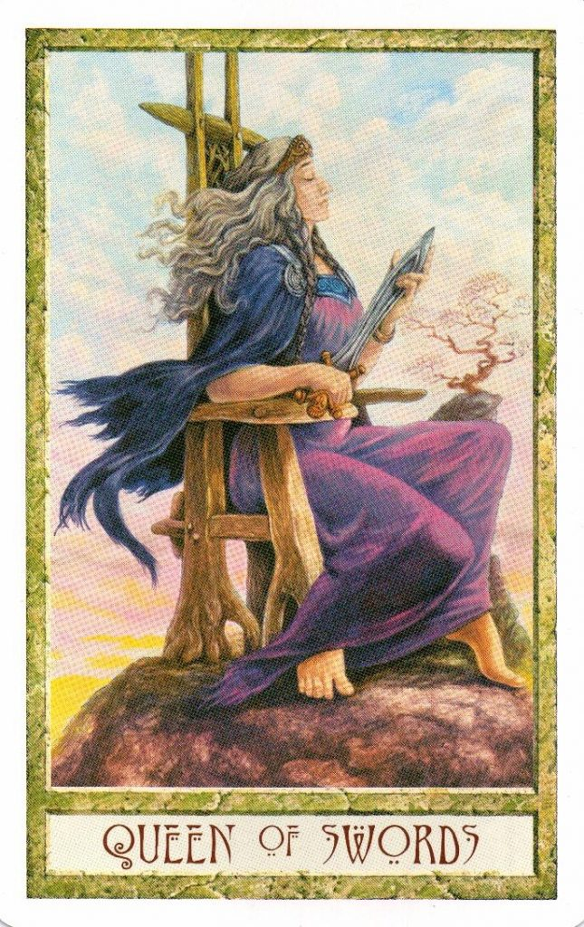 Королева Мечей Таро Друидов The Druid Craft Tarot