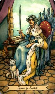 Королева Мечей Everyday Witch Tarot