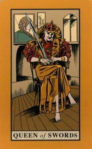 Королева Мечей The English Magic Tarot Таро Английской Магии