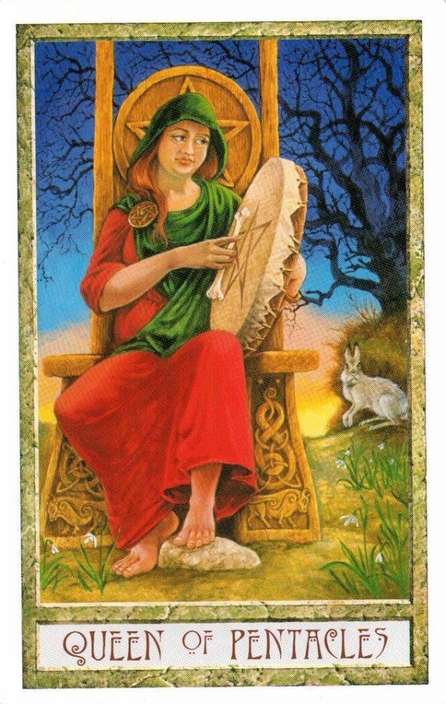 Королева Пентаклей Таро Друидов The Druid Craft Tarot