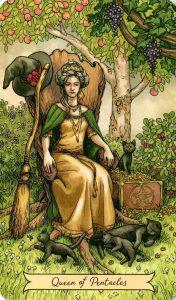 Королева Пентаклей Everyday Witch Tarot