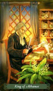 Король Аутэмов (Ножей) The Green Witch Tarot (Таро Зеленой Ведьмы)