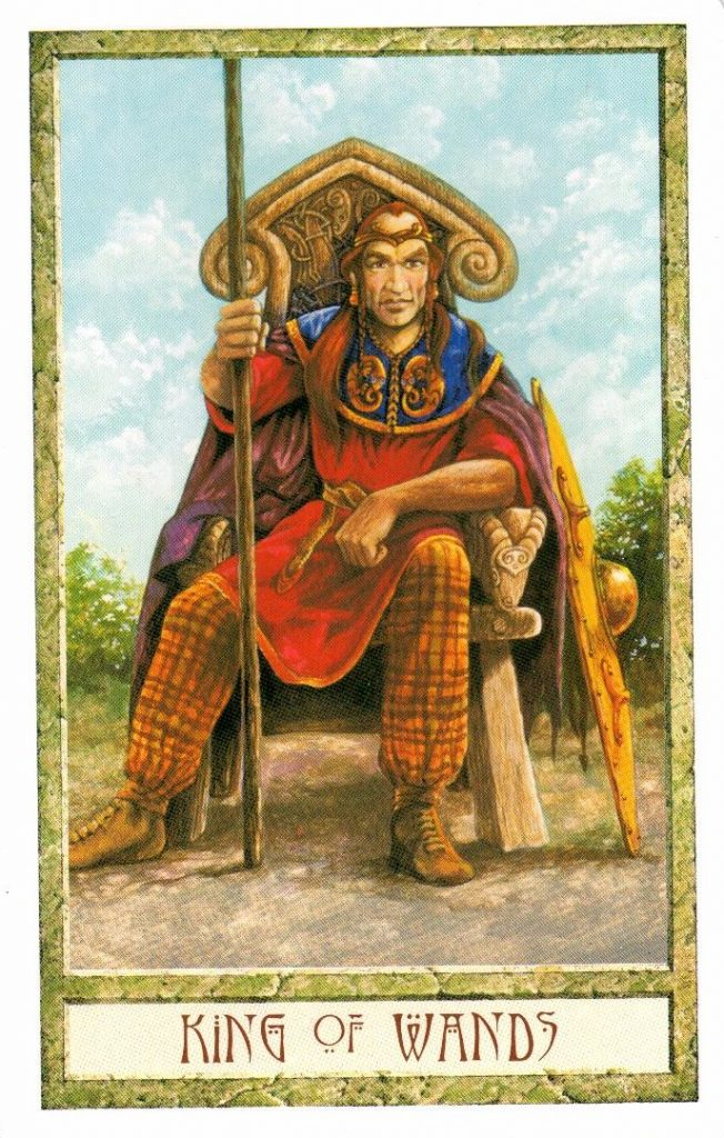 Король Жезлов Таро Друидов The Druid Craft Tarot