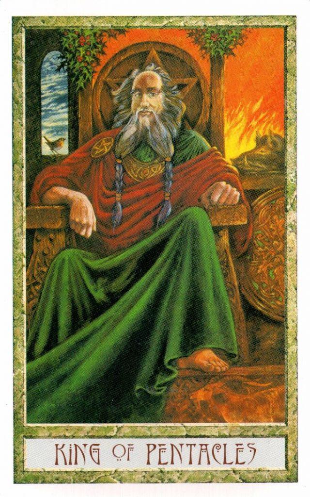 Король Пентаклей Таро Друидов The Druid Craft Tarot