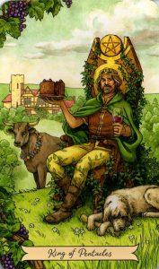 Король Пентаклей Everyday Witch Tarot