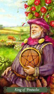 Король Пентаклей The Green Witch Tarot (Таро Зеленой Ведьмы)