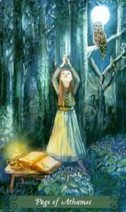 Паж Аутэмов (Ножей) The Green Witch Tarot (Таро Зеленой Ведьмы)