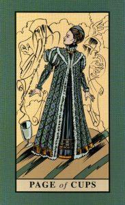 Паж Кубков The English Magic Tarot Таро Английской Магии