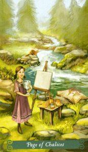 Паж Чаш The Green Witch Tarot (Таро Зеленой Ведьмы)