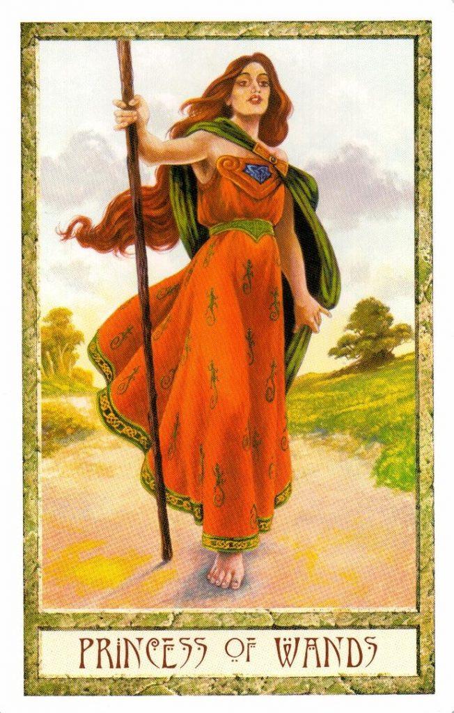 Принцесса Жезлов Таро Друидов The Druid Craft Tarot