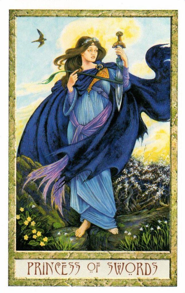 Принцесса Мечей Таро Друидов The Druid Craft Tarot