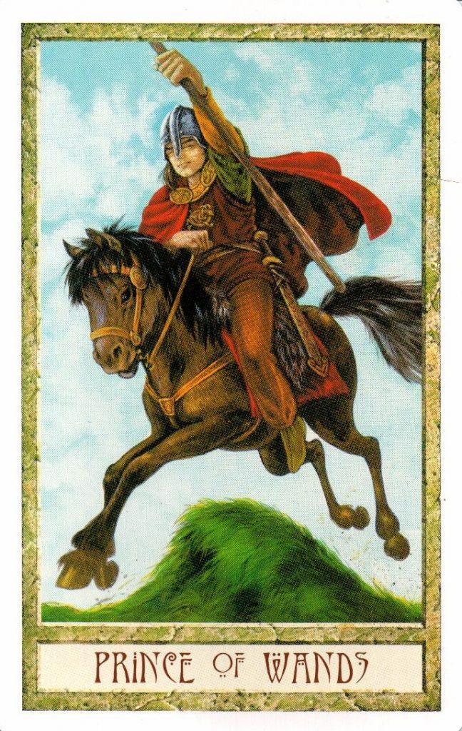 Принц Жезлов Таро Друидов The Druid Craft Tarot