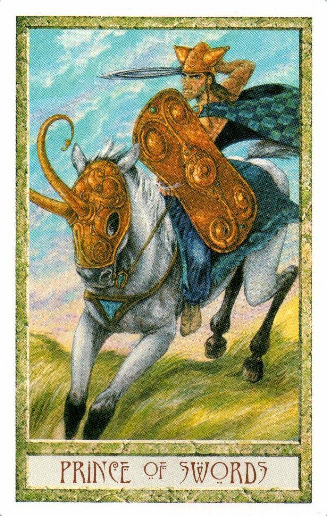 Принц Мечей Таро Друидов The Druid Craft Tarot