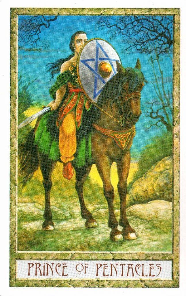Принц Пентаклей Таро Друидов The Druid Craft Tarot