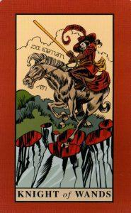 Рыцарь Жезлов The English Magic Tarot Таро Английской Магии
