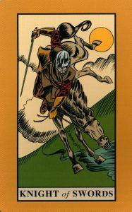 Рыцарь Мечей The English Magic Tarot Таро Английской Магии