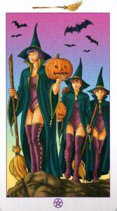 Торжество (Паж) Метл (Масть Мечей) Ведьмовское Таро (Таро Ведьм) Witchy Tarot