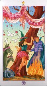 Торжество (Паж) Факелов (Жезлы)Ведьмовское Таро (Таро Ведьм) Witchy Tarot
