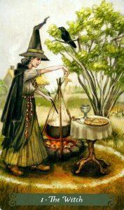 1 Аркан Ведьма The Green Witch Tarot (Таро Зеленой Ведьмы)