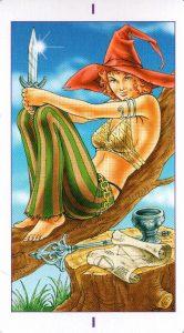 1 Аркан Маг Ведьмовское Таро Witchy Tarot