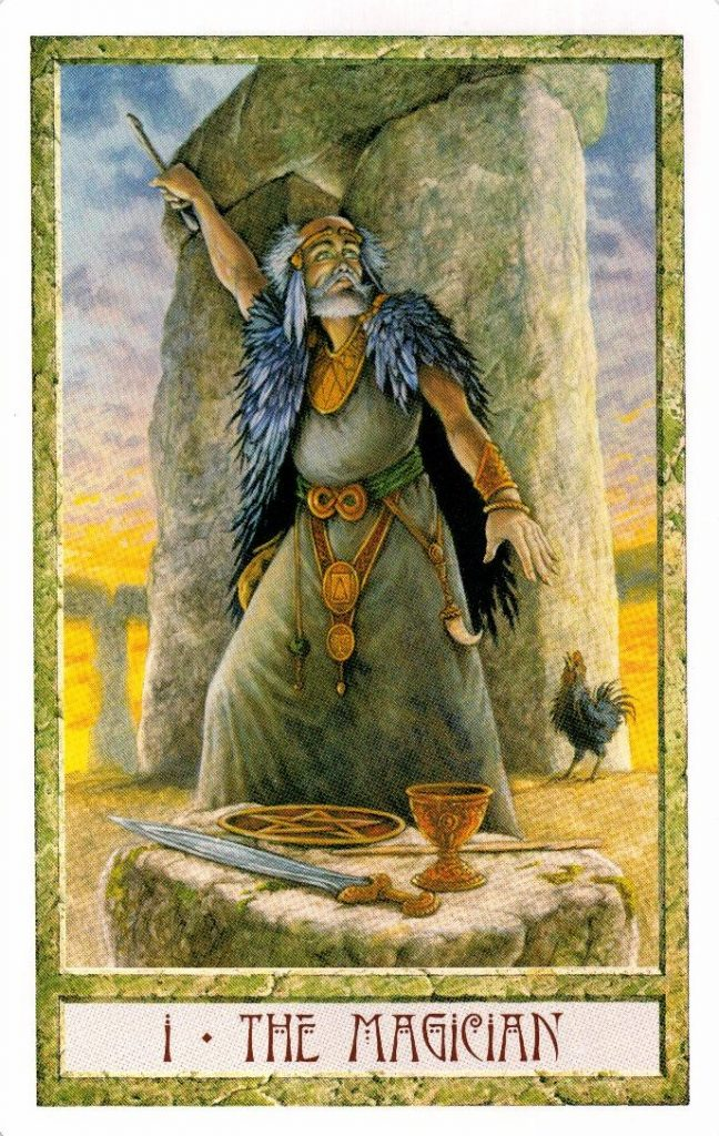 1 Аркан Маг Таро Друидов The Druid Craft Tarot