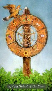 10 Аркан Колесо Года The Green Witch Tarot (Таро Зеленой Ведьмы)