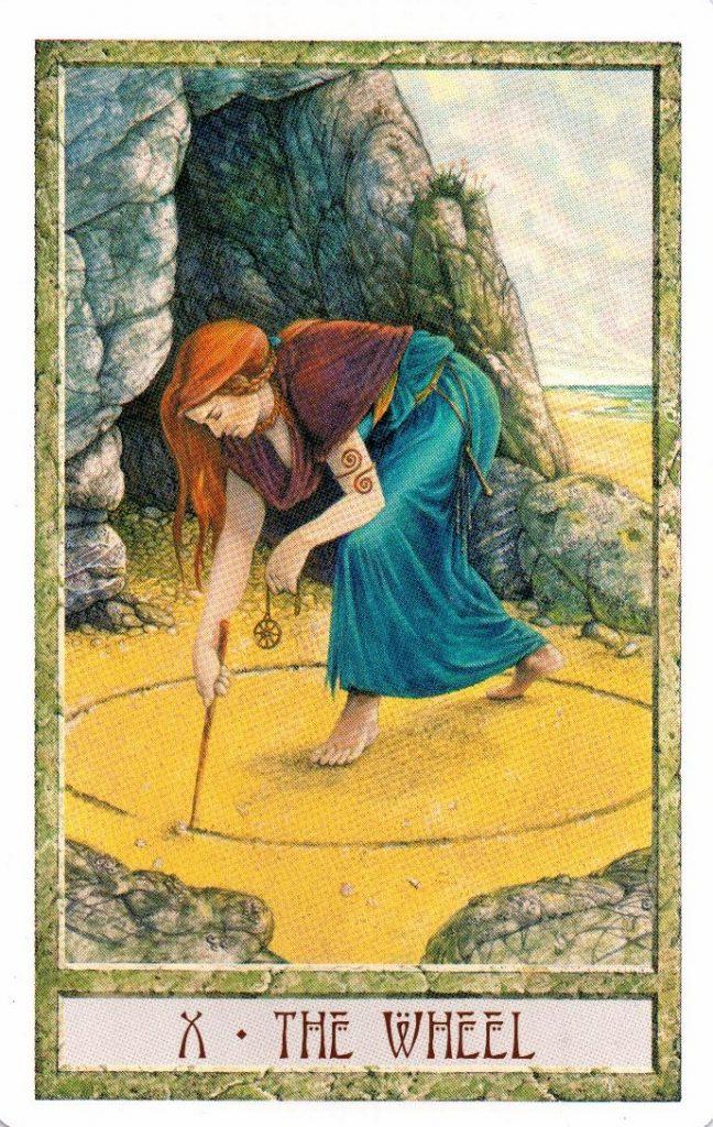 10 Аркан Колесо Таро Друидов The Druid Craft Tarot