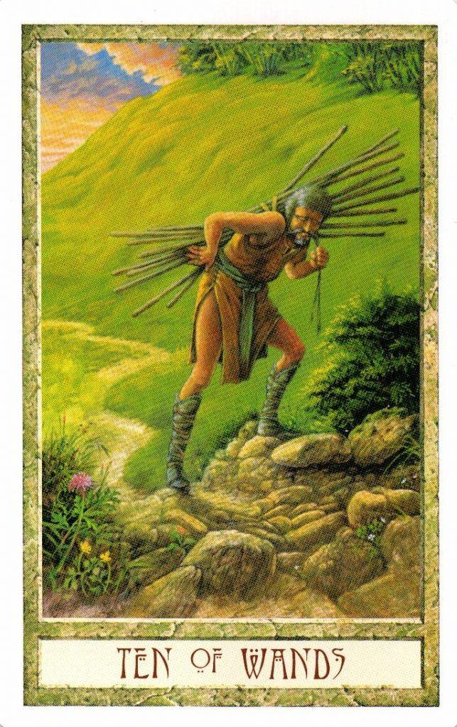 10 Жезлов Таро Друидов The Druid Craft Tarot